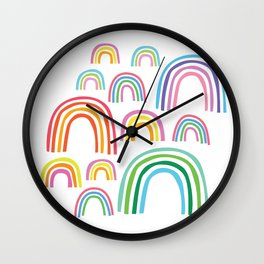 Rainbow Cuties Wall Clock