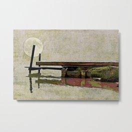 Planetary Dock Metal Print