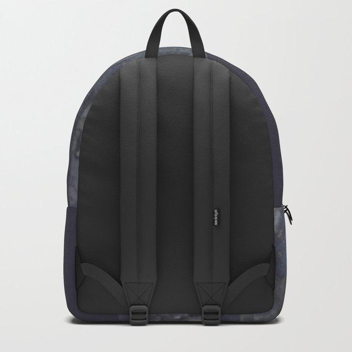 Marble Geometric Navy Blue Indigo Backpack