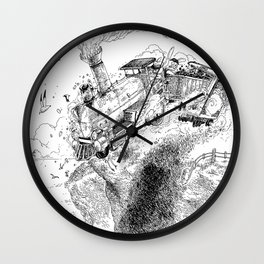 Au-Delà du Terminus / Beyond the End Station Wall Clock