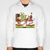 rasta Hoodies featuring rasta & cheers by gran mike