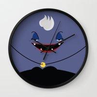 ursula Wall Clocks featuring Ursula by Maria Jose Da Luz