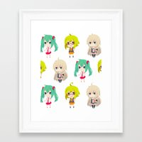 vocaloid Framed Art Prints featuring Gumi/IA/Miku [Vocaloid Collection] by Eules
