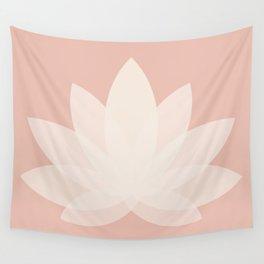 Minimal Lotus Flower XVI Wall Tapestry