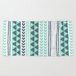 Winter Stripe Beach Towel