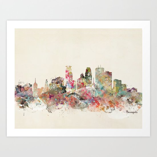 minneapolis city skyline Art Print