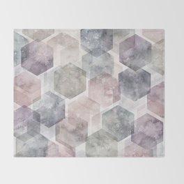 Hexagon Dreams Throw Blanket