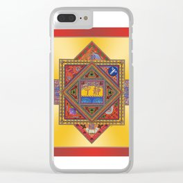 Meditation on Serenity (gradient gold) Clear iPhone Case