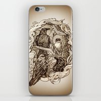 crow iPhone & iPod Skins featuring Crow by Alice Macarova