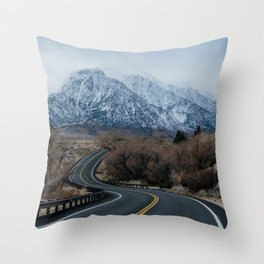 Blue Mountain Road Throw Pillow