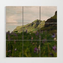 Lupine Fields in Iceland Wood Wall Art