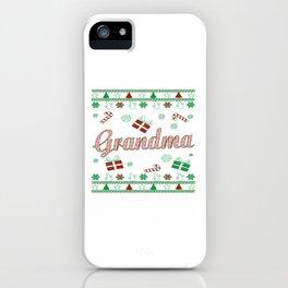 Grandma Christmas iPhone Case