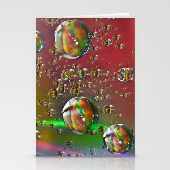 Multi-Color Drops Stationery Cards