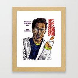 Kiss Kiss Bang Bang Framed Art Print