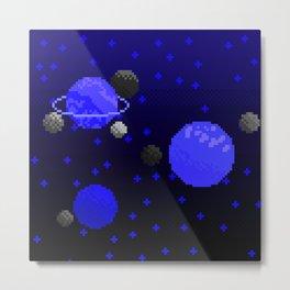 Spacey - Blue Metal Print