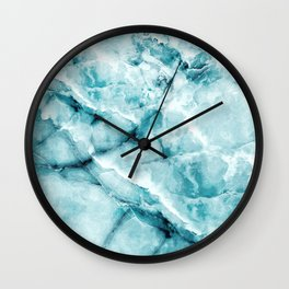 blue ice Wall Clock