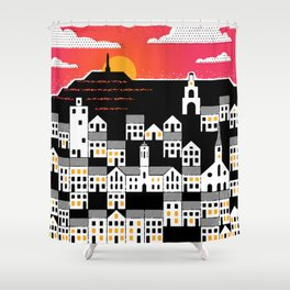 Evening Fred Shower Curtain