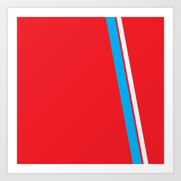 Red Slant Art Print