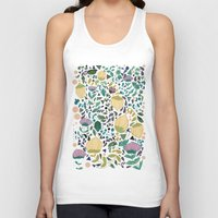 flower pattern Tank Tops featuring Flower Pattern by Jo Cheung Illustration
