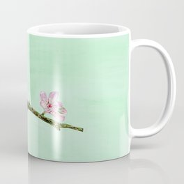 Red Robin with Floral Accents Coffee Mug
