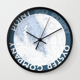 Chesapeake blue logo Wall Clock