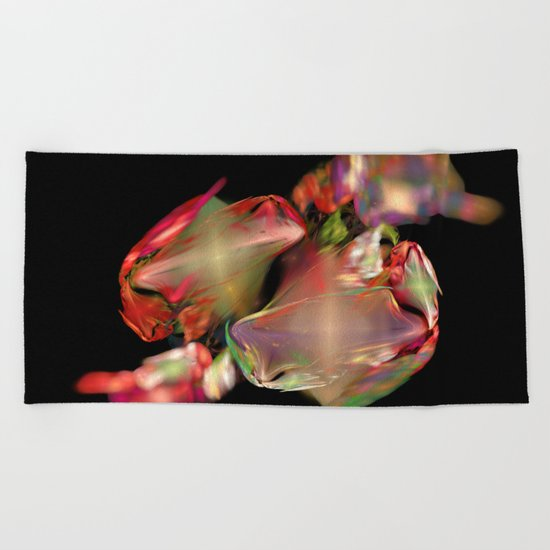 Flower Work  (A7 B0236) Beach Towel