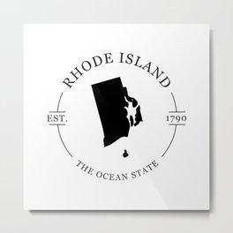 Rhode Island - The Ocean State Metal Print