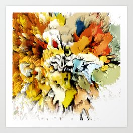 Color Blocks Explosion Art Print