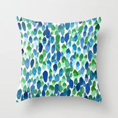 Clean Rain Throw Pillow