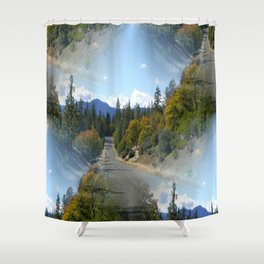 What road shall I take? Shower Curtain