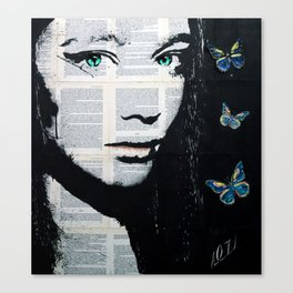 Yekaterina with butterflies Canvas Print
