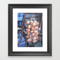 Bicycle with Onions Framed Art Print