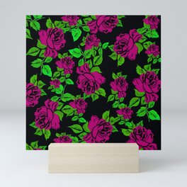 ROSES ROSES PINK AND GREEN Mini Art Print