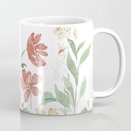 Loose Watercolor Garden Flowers Coffee Mug