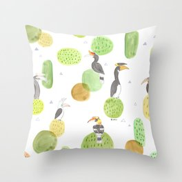 hornbills Throw Pillow