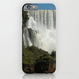 Iguassu Iguazu Waterfall Landscape Panorama Scenery, Brazil Argentina 1 iPhone Case