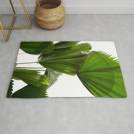 Palm Tree Photography | Landscape | Palm Leaf | Tropical Leaves | Green Tropical Leaves Rug