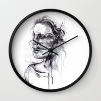 agnes Wall Clocks featuring Tremore by agnes-cecile