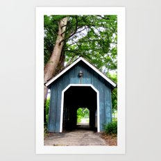 Blue Tunnel Art Print