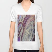 marble V-neck T-shirts featuring MARBLE by ....