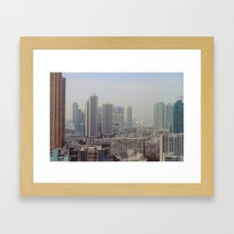 Hong Kong Skyline Framed Art Print