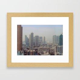 Hong Kong Skyline Framed Art Print