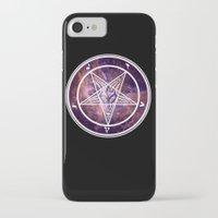 pentagram iPhone & iPod Cases featuring Pentagram Galaxy by Parin Cashmony
