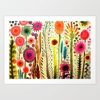 lady Art Prints featuring printemps by sylvie demers