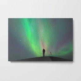 Aurora Silhouettes  Metal Print