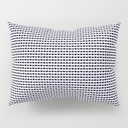 Heartless Pattern in Periwinkle Pillow Sham
