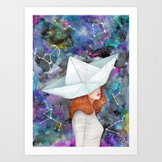 Galaxy Explorer Art Print