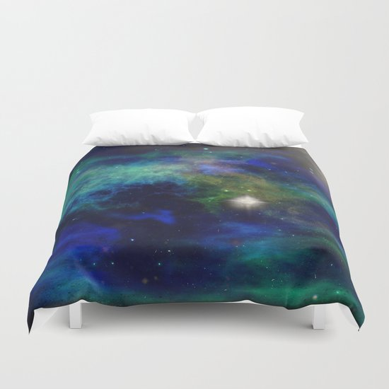 Stars and Waves Duvet Cover