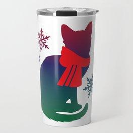 Winter Cat Travel Mug