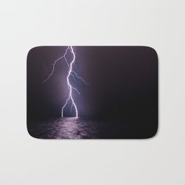Lightning at Sea Bath Mat